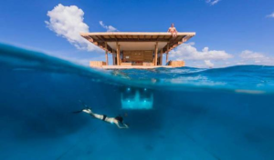 Under Water Hotel Room on Pemba Island