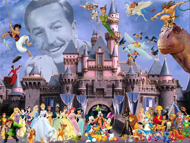 A picture of multiple disney characters.