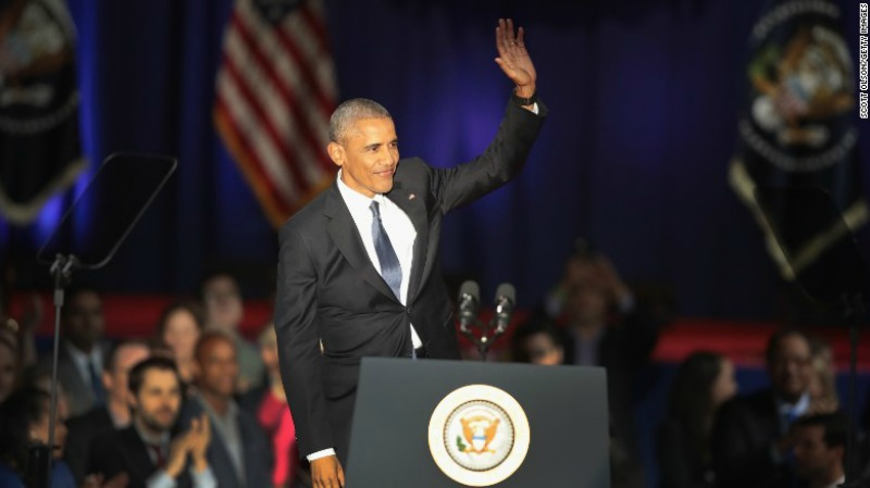 Obama's Giving His Farewell Adress