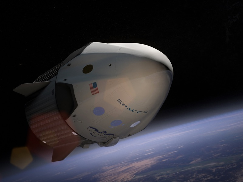 SpaceX+Rocket+in+space.