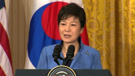 This is the President of South Korea giving a speech.