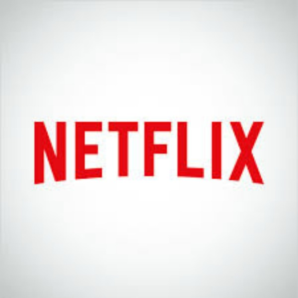 The logo of Netflix.