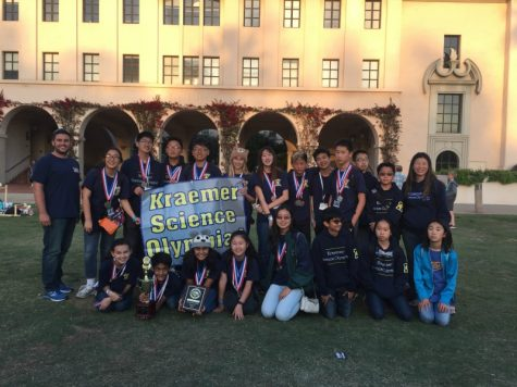 Kraemer's Science Olympiad poses after the competition.