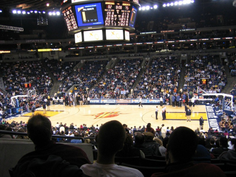 The Golden State Warriors home court.