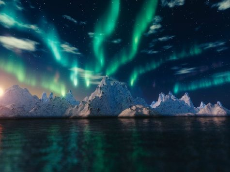 a picture of the northern lights
