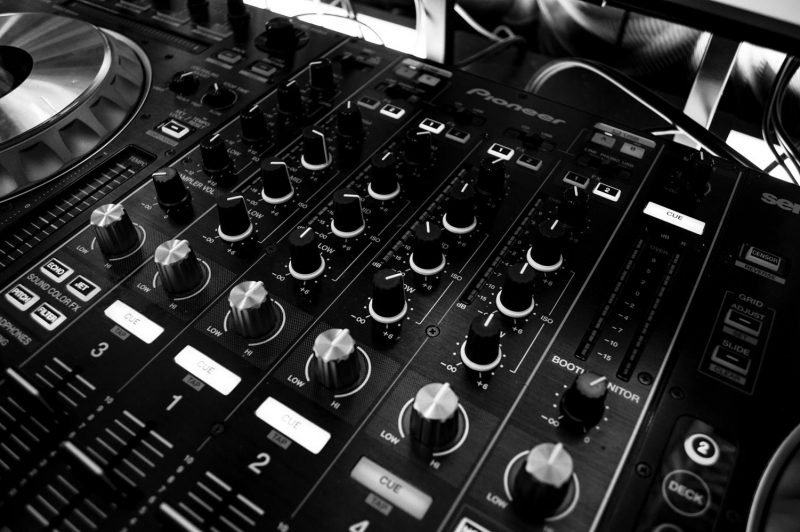 Black mixing board - music