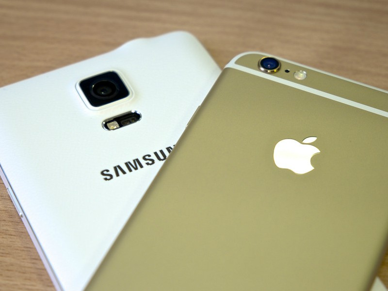 Phones from Samsung and Apple