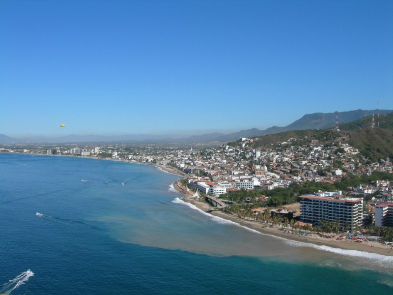 A+stunning+view+of+Puerto+Vallarta%27s+beach.+