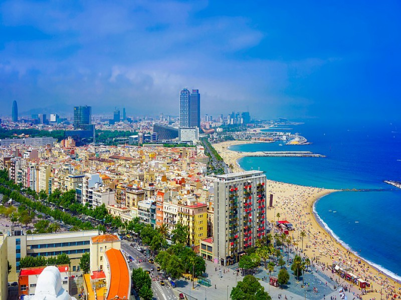 A picture of Barcelona city.