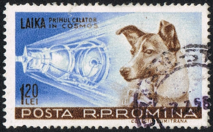 A+stamp+commemorating+Laika