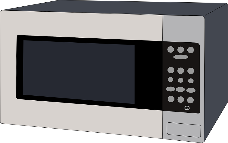 A microwave with similar physical features as a reverse microwave.