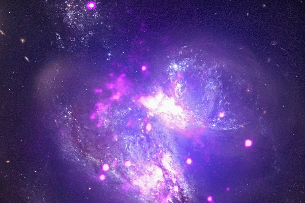 Two galaxies colliding