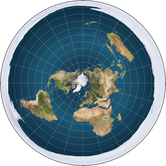 flat-earthers interpretation of the earth