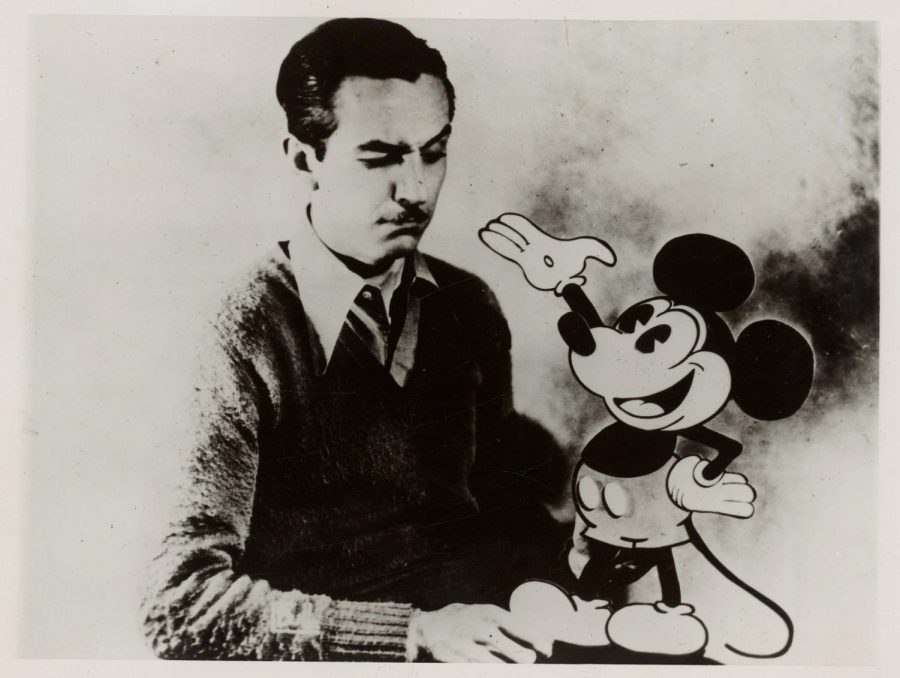 Photograph+of+Walt+Disney+with+Mickey+Mouse