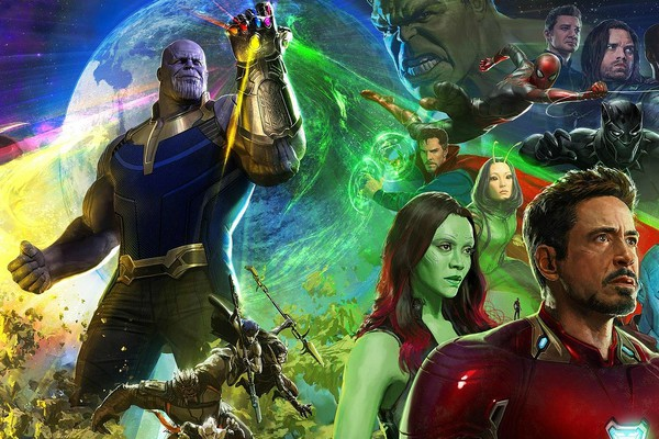 An amazing concept art for the movie Avengers: Infinity War