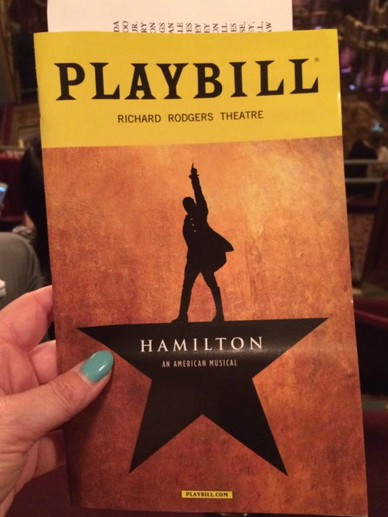The playbill of the musical Hamilton