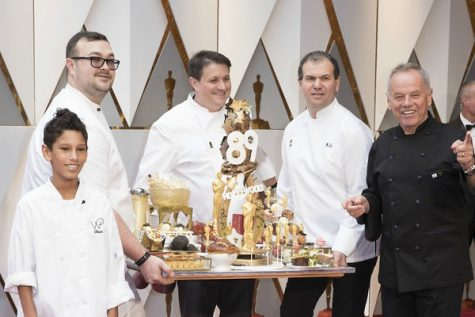 A clip from the 89th annual Oscars ceremony where Wolfgang Puck made one of his magnificent dishes
