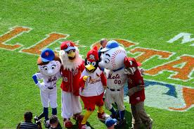 Mascots from different teams