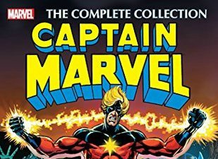 The cover of a Captain Marvel comic book by Jim Starlin.