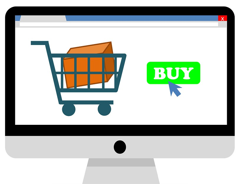 An online shopping cart icon