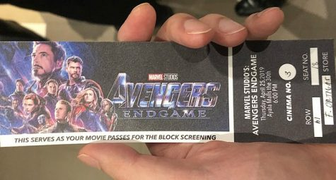 A ticket of the premiere of Avengers: Endgame in the Ayala Mall.