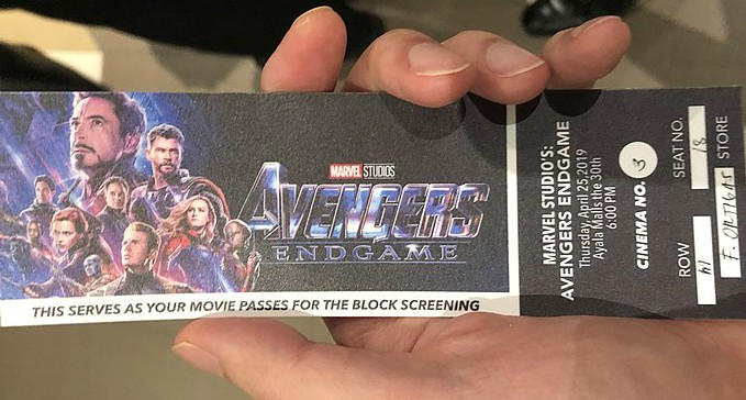 A+ticket+of+the+premiere+of+Avengers%3A+Endgame+in+the+Ayala+Mall.