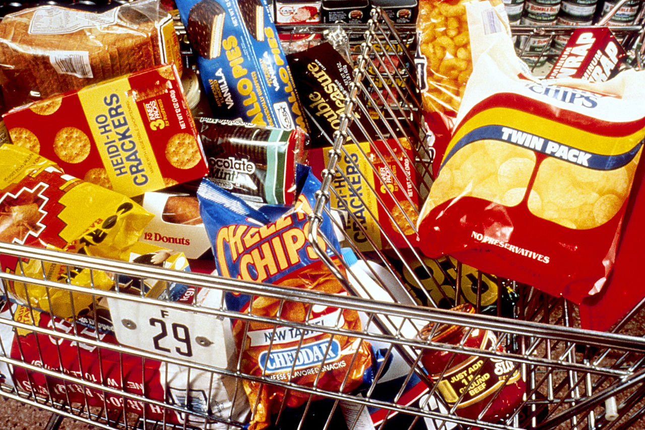 Many ultra processed unhealthy foods