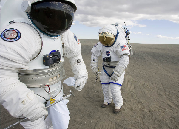 NASA  has worked towards gender equality  by designing space suits for men and women.