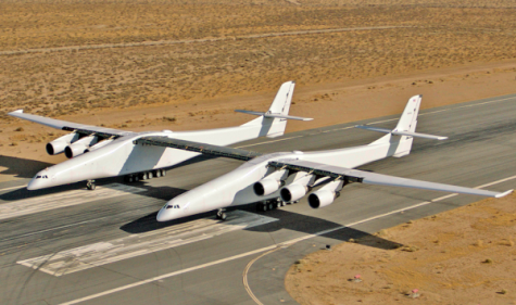 The Stratolaunch, a double-plane, is meant to carry vehicles to space.
