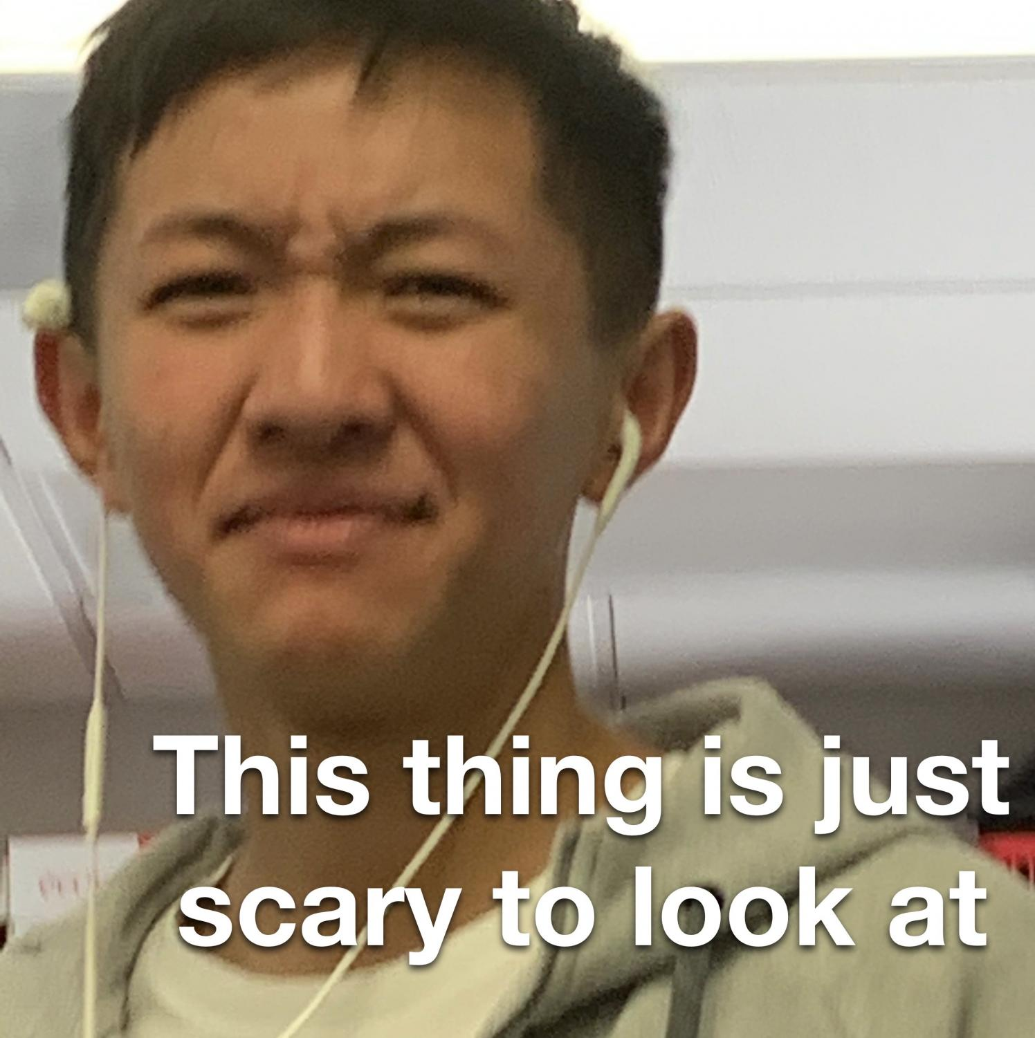 hahaha get it, because Darrius' face is scary to look at and this is an article about a scary movie