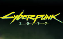 The logo of the new game of Cyberpunk 2077.