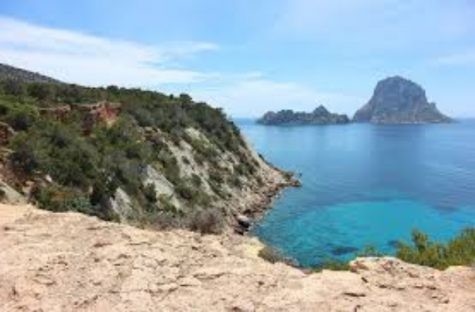 This is a picture of a beautiful beach in Ibiza.